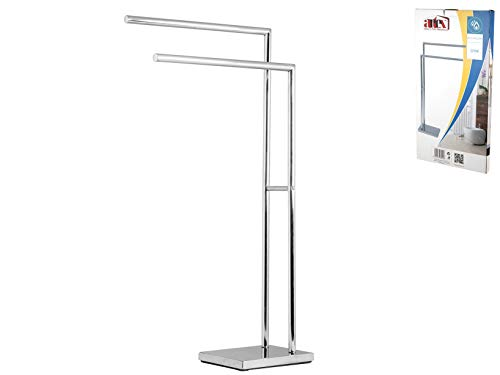 ARTEX Porte-Serviettes sur Pied, Acier Inoxydable, Acier, 40x 18x 83cm