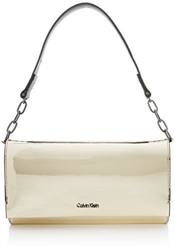 Calvin Klein Instant Clutch On Chain Metalic, Pochettes femme, Or (Light Gold), 5x14x27 cm (B x H T)