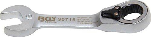 Bgs Clé mixte à cliquet, courte, 15 mm, 1 pièce, 30715