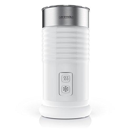 Arendo milkloud Milchaufschäumer automatisch | milk frother | rostfreies Doppelwanddesign | 2-Tasten für Warm- und Kaltaufschäumen | Soft-Touch-Oberfläche | Überhitzungsschutz durch automatische Abschaltfunktion | antihaftbeschichtet | 360° Basisstation | weiß / silber (gebürsteter Edelstahl) thumbnail