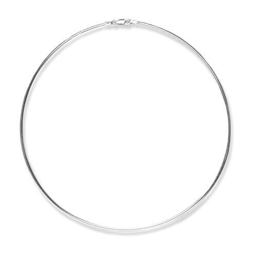 Schmuck-Pur Echt 925/- Silber Omegareif Halsreif 2,00 mm