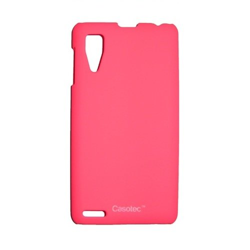 Casotec Ultra Slim Hard Shell Back Case Cover for Lenovo P780 - Hot Pink  available at amazon for Rs.229