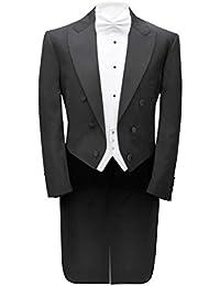 Alexander Dobell Veste de Costume White Tie (Cravate Blanche) 100% Laine
