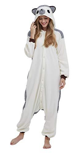 SAMGU Einhorn Adult Pyjama Cosplay Tier Onesie Body Nachtwäsche Kleid Overall Animal Sleepwear Erwachsene Igel ()