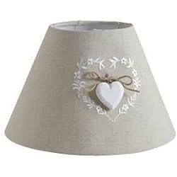Abat-jour pour lampe de chevet avec coeur