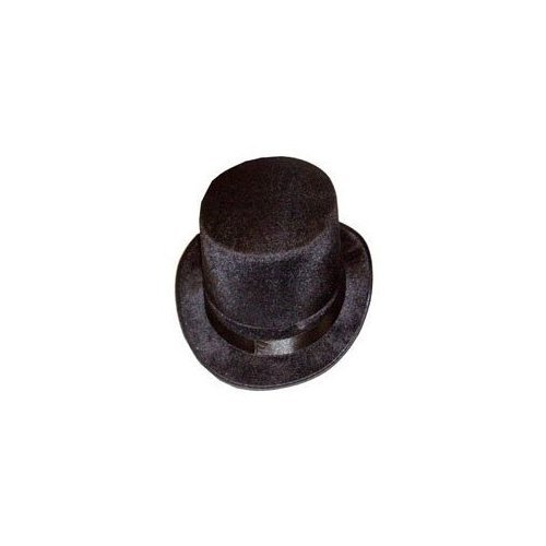H09580 Deluxe ADULT VELOUR TOP HAT VICTORIAN TOP HAT (Hut Kostüm Lincoln Top)