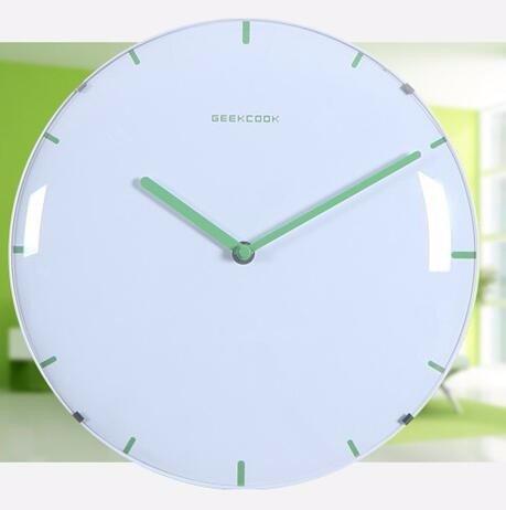 Yxhflo Aucun Cadre De Couleur Bonbon Minimaliste Horloge Murale Horloge Murale Mini Clair ,28Cm, Vert