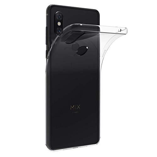 TBOC Funda de Gel TPU Transparente para Xiaomi Mi Mix 3 [6.29 Pulgadas] Carcasa de Silicona Ultrafina Flexible para Teléfono Móvil [No es Compatible con el Xiaomi Mi MAX 3]