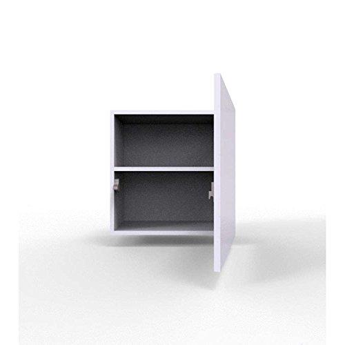 JUSThome Vigo XXIII Quadrat Wohnwand Anbauwand Schrankwand Grau Matt | Weiß Hochglanz - 3