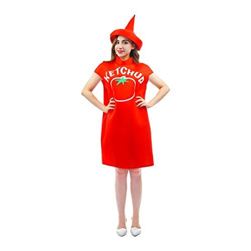 SEA HARE Halloween Kostüm Ketchup für Erwachsene