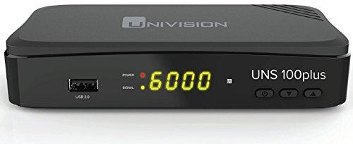 fernseher mit usb aufnahme Univision UNS100+ Full HD Satelliten Receiver (HDMI/SCART/USB/EPG/PVR)