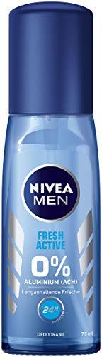 Nivea Men Deo Zerstäuber für Männer, Ohne Aluminium, Deo-Schutz, Fresh Active, 3er Pack (3 x 75 g)