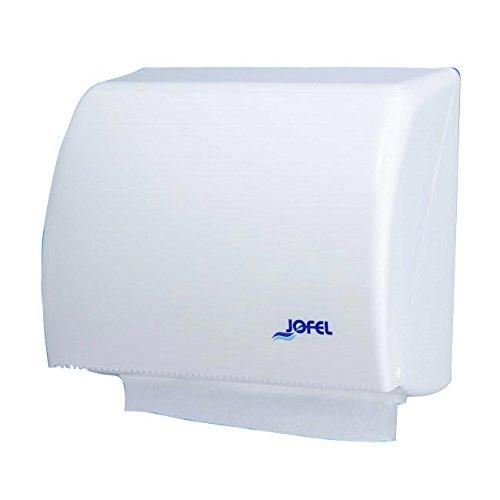 Jofel AH45000 Azur Dispensador Toallas de Manos, Zig-Zag o Papel Continuo, Blanco