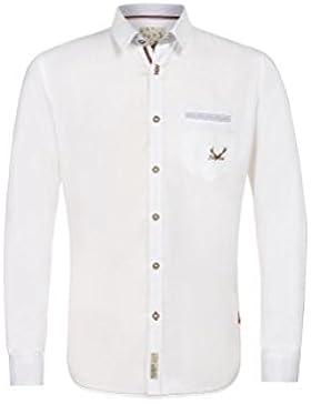 Michaelax-Fashion-Trade Stockerpoint - Herren Trachtenhemd in Weiß, Musk