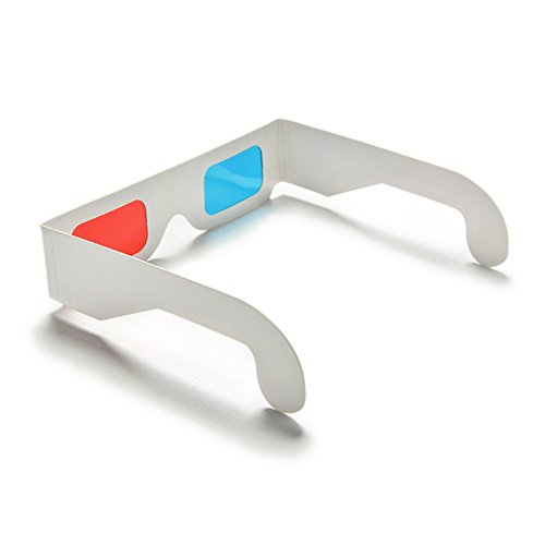 10x Demarkt 3D Glasses Rote und blaue 3D Brille aus Papier und Kunststoff