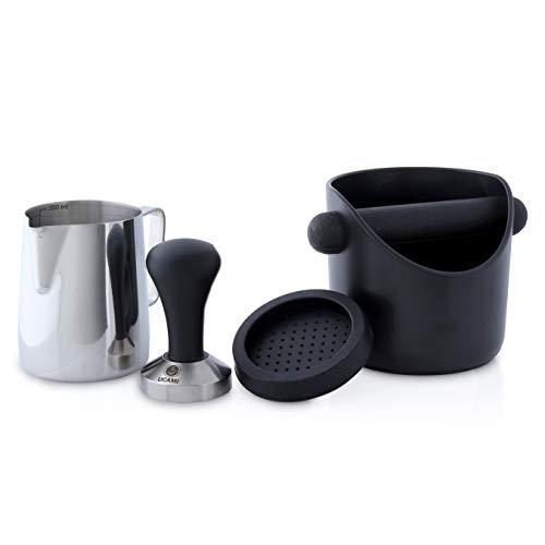 Ucami 51mm Kaffee-Tamper Set im Premium Design – Klassischer Kaffeemehlpresser/Espresso Stempel aus Edelstahl mit Matte – für den perfekten Kaffeestempel