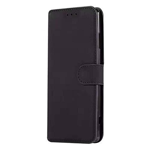 Sunrive Hülle Für DOOGEE Mix 2, Magnetisch Schaltfläche Ledertasche Schutzhülle Etui Leder Case Cover Handyhülle Tasche Schalen Lederhülle MEHRWEG(W8 Schwarz)