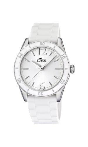 c72489b4e649 Lotus By Festina 15796 1 - Reloj para mujer de caucho Resistente al agua  blanco de Lotus By Festina