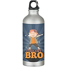 YaYa Cafe Birthday Gifts for Brother, Coolest Bro Sister Sipper Water Bottle