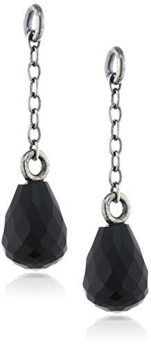 Trollbeads Damen-Bead 925 Silber Onyx schwarz - TAGEA-00010