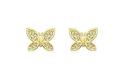 Carissima Gold 9 ct Yellow Gold Shape Stud Earrings