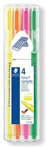 Staedtler triplus 362 SB4 textsurfer Textmarker, 4 Stück in aufstellbarer Staedtler-Box -