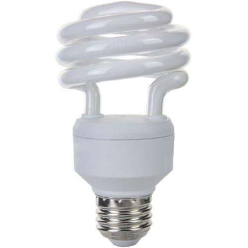 Kompaktleuchtstofflampe Sylvania Glühbirne (Sunlite sms18/65K sms18/65K 18Watt Super Mini Spirale Energiesparend Medium Basis CFL Glühbirne, Tageslicht)