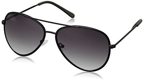 Fastrack UV Protected Aviator Men\'s Sunglasses (M143BK1|58|Smoke (Grey / Black) Color