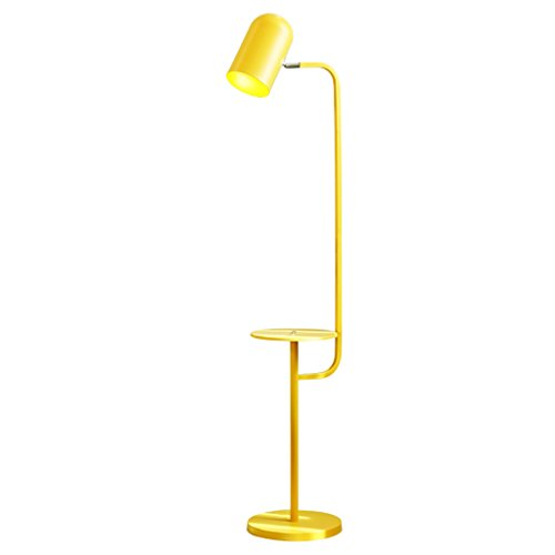Stehlampen Stehlampen Wohnzimmer Schlafzimmer Studie Nacht Sofa Kreatives Regal aufrecht Lampe Stehlampe Schlafzimmer (Farbe : Gelb)