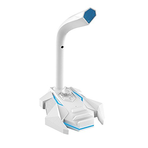 Preisvergleich Produktbild GWJ Voice Desktop USB Mikrofonständer Für Computer Laptop PC - Gaming Mic Kann Externe Kopfhörer - Rot, White