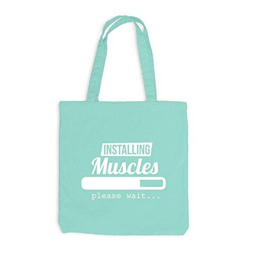 Jutebeutel - Installazione Dei Muscoli In Caricamento Attendere Prego ... - Sport Gym Train Mint