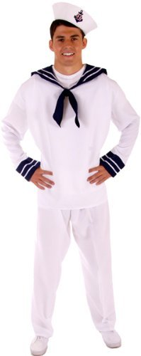 Adult Mens Kostüm - MENS ADULT ahoi Seemann MATE FANCY DRESS OUTFIT KOSTÜM STD [Spielzeug]