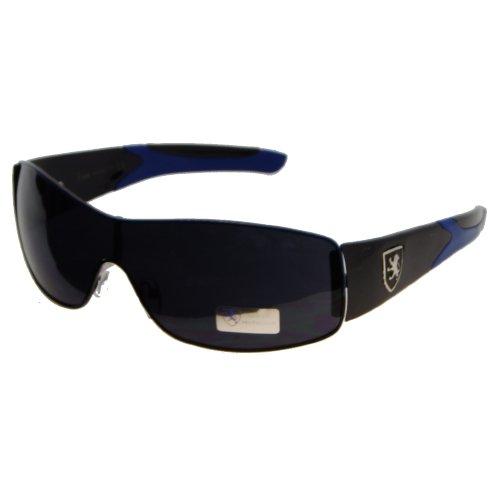 (6 Pack) KHAN Sunglasses Wrap KNM3734 - Blue