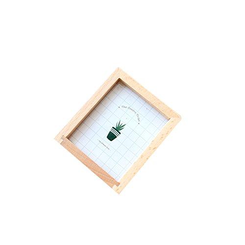 Mogist - portapenne in legno con motivo a cactus rettangolare, in legno