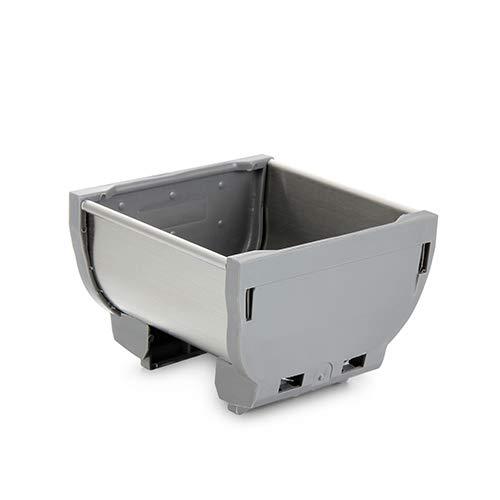 Aufbewahrungsboxen für Besteck, Küche in Schubladen, Utensilien, Edelstahl, silberfarben, 8,4 x 8,4 x 5,8 cm -