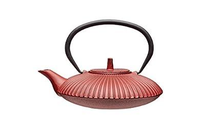 Kitchen Craft Le'Xpress Infuseur en fonte style japonais Théière, 600ml (3tasses)–Rouge