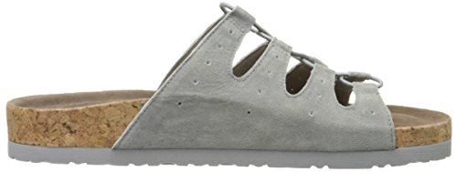 Skechers Granola Wrap It Up Slide Sandale Gray Suede