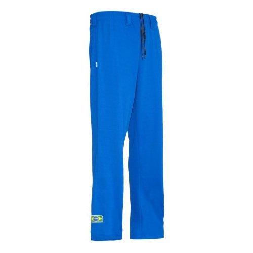 Original Brasilianische Capoeira Hose Unisex Blau Abada Martial Arts Elastische Pants -