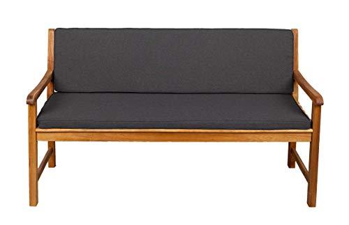 Bankauflage Für Hollywoodschaukel Set Glatt Sitzkissen + Rückenlehne Sparpreise (140x40x50, Dunkelgrau) F5