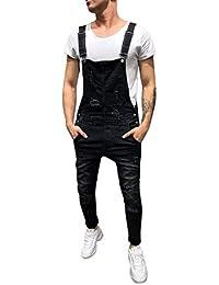 Salopettes de Travail Homme Grande Taille, Sunenjoy Jeans Pantalon Skinny  Troué Salopette Combinaison Jumpsuit Pantalon Denim… d8e494aa46a6
