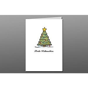 Weihnachtskarte + Briefumschlag + Adressaufkleber / Weihnachtsbaum No1