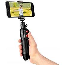 IK MULTIMEDIA Iklip Grip Pro – Palo selfie para video alta definición, trípode, monopie, soporte, ultra compacto, profesional y ergonómico - Negro