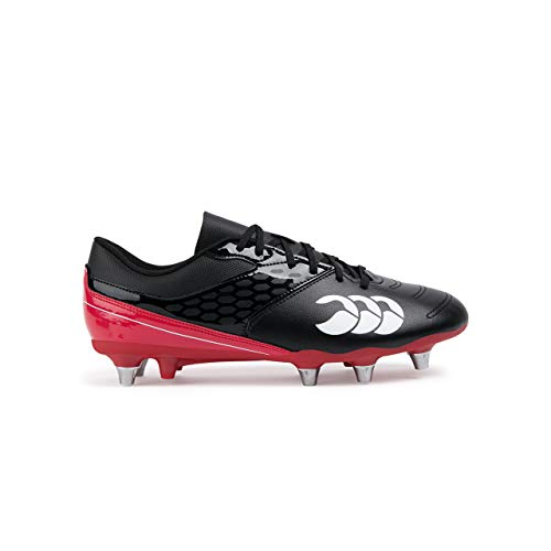 Canterbury of New Zealand Phoenix Raze Soft Ground Zapatillas de rugby Hombre,  Negro Black/ True Red...