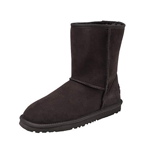 Shenduo Damen Wasserdicht Halbstiefel Winter Warm Gefüttert Klassisch Boots D9125 Schokolade 38 - Lammfell-stiefel Schokolade