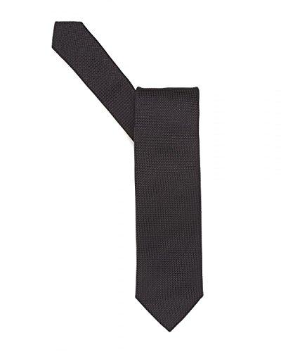 Hugo Boss Black Mens Tie, Textured Pure Silk Black Tie