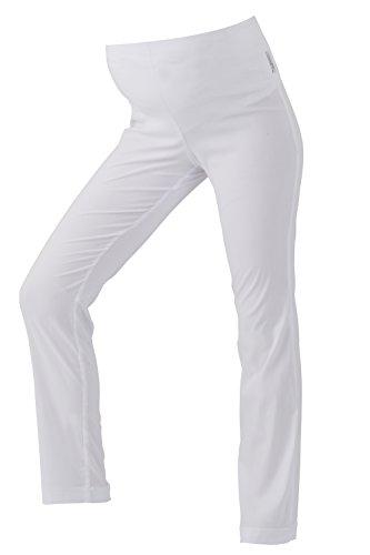 Christoff Damen Umstandshose Hose Boot Cut Umstandsmode (42L (Herstellergröße: 42/34L), weiß (White))
