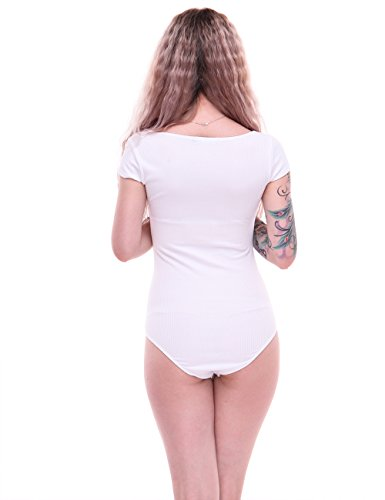 Yabliss Damen Formender Body Weiß