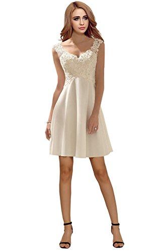 Milano Bride Elegant V-Ausschnitt Spitze Chiffon Hochzeitskleider Brautkleider Brautmode Damen...