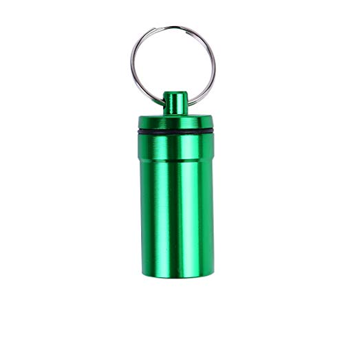 LHWY Damen Wasserdichte Aluminium Pille Box Fall Flasche Drogenhalter Schlüsselbund Container - Gratis-pille