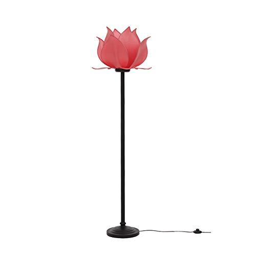 YHFX2 LED Wohnzimmer und Schlafzimmer Stehleuchte-art Zither Lampe Lotus Stehleuchte seitige Sofa Nachtleselampe Beleuchtung Geräte traditionellen Retro Stehleuchte-Fußschalter E27 02
